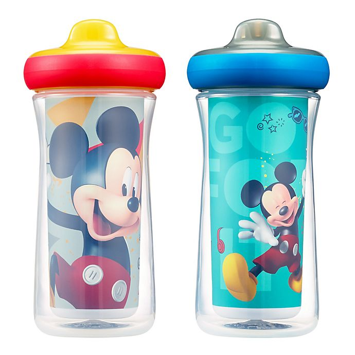 Alternate image 1 for Disney® Mickey Mouse ImaginAction™ 2-Pack 9 oz. Insulated Hard Spout Sippy Cups
