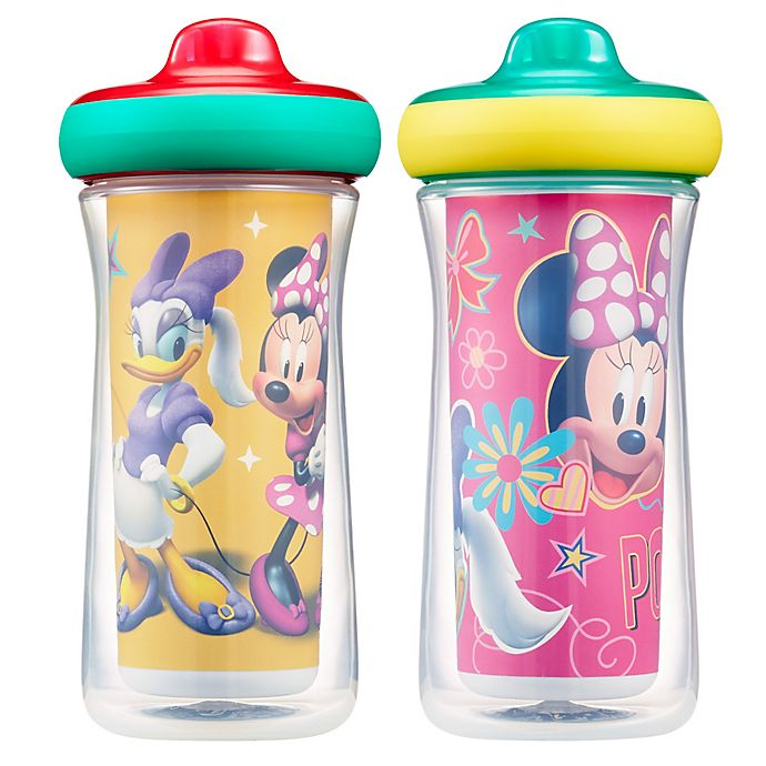 Alternate image 1 for The First Years® 2-Pack Disney® Minnie Mouse 9 oz. Insulated Sippy Cups with Animation App