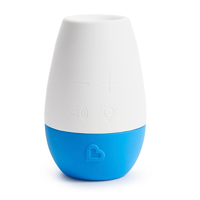 Alternate image 1 for Munchkin® Shhh...™ Portable Sound and Light Soother in White/Blue