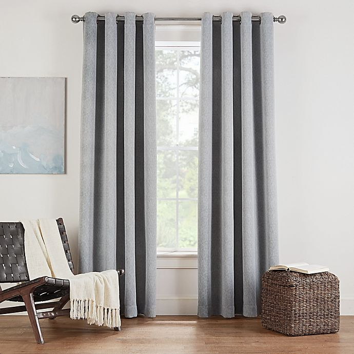 Alternate image 1 for Eclipse Twilight Luna 72-Inch Grommet Room Darkening Window Curtain Panel in Grey