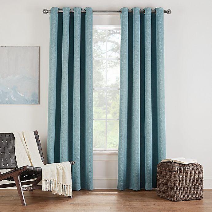 Alternate image 1 for Eclipse Twilight Luna 95-Inch Grommet Room Darkening Window Curtain Panel in Spa