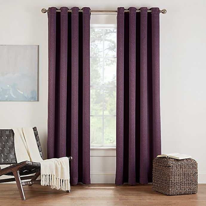 Alternate image 1 for Eclipse Twilight Luna 72-Inch Grommet Room Darkening Window Curtain Panel in Plum