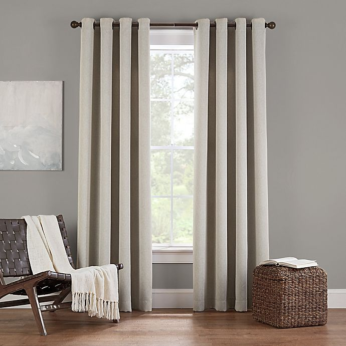 Alternate image 1 for Eclipse Twilight Luna 95-Inch Grommet Room Darkening Window Curtain Panel in Ivory