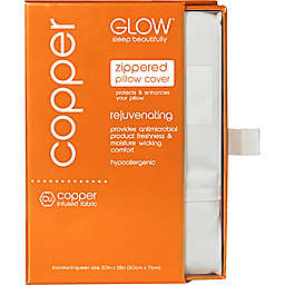 Glow™ 400-Thread-Count Copper-Infused Standard/Queen Pillowcase in Off-White