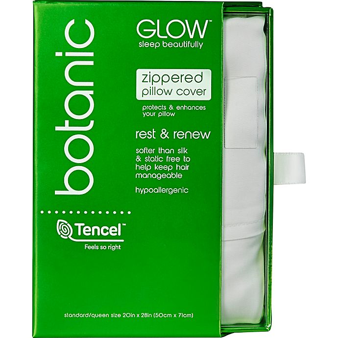 Alternate image 1 for Glow™ 300-Thread-Count Tencel® Standard/Queen Pillowcase in White