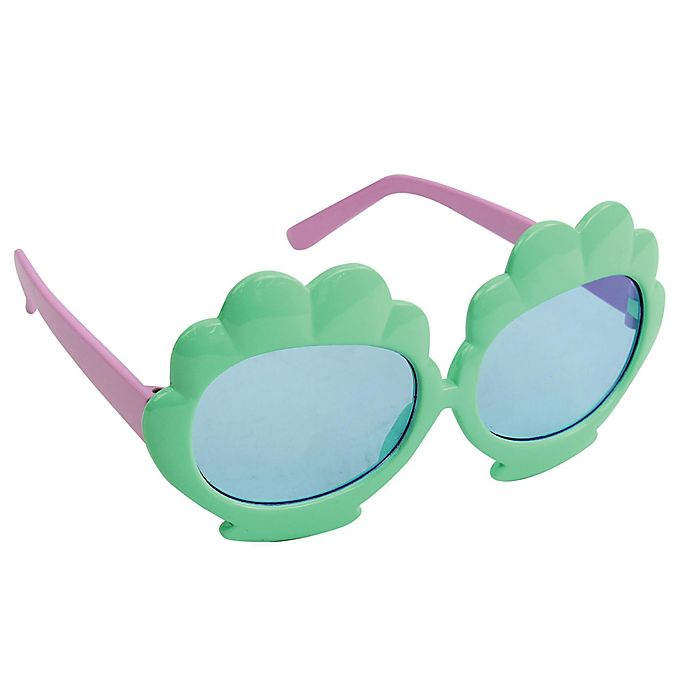 Alternate image 1 for On The Verge Seashell  Kids Fashion Sunglasses in Mint
