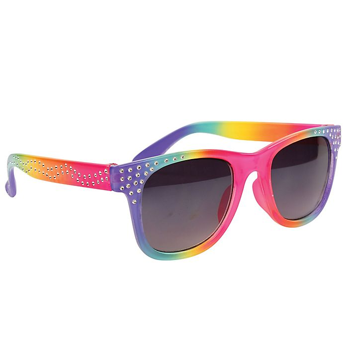 Alternate image 1 for On The Verge Rainbow with Sparkle Kids Fashion Sunglasses