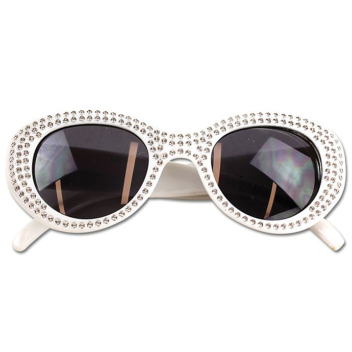 Alternate image 1 for On the Verge Stone Kids Fashion Sunglasses in White