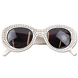 On the Verge Stone Kids Fashion Sunglasses in White