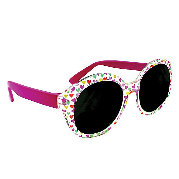 Alternate image 1 for On The Verge Allover Hearts Kids Fashion Sunglasses