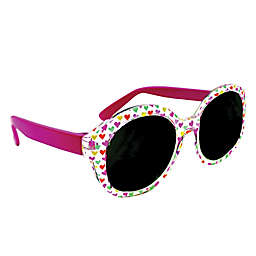 On The Verge Allover Hearts Kids Fashion Sunglasses