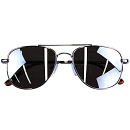 On the Verge Kids Metal Aviator Sunglasses in Silver