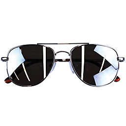 On The Verge Metal Aviator Kids Sunglasses in Silver