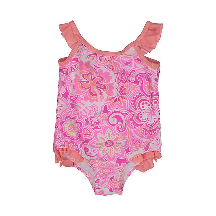 Alternate image 1 for Tommy Bahama® Size 18M Paisley Floral One-Piece Swimsuit in Pink