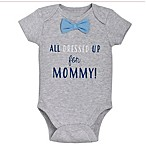 """babyGEAR™ Size 3M """"All Dressed Up for Mommy"""" Bowtie Bodysuit in Grey"""