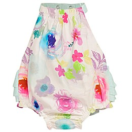 Baby Starters® Bubble Sunsuit with Rear Ruffles in White/Mint