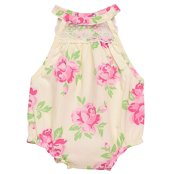 Alternate image 1 for Baby Starters® Size 9M Floral Bubble Sunsuit