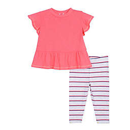 Splendid® 2-Piece Stripe Top and Legging Set in Pink