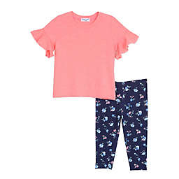 Splendid® 2-Piece Floral Top and Pant Set in Pink