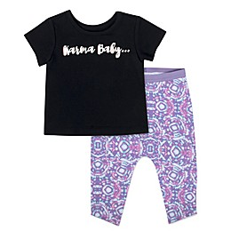 "Aimee Kestenberg 2-Piece ""Karma Baby"" Short Sleeve Shirt and Pant Set"