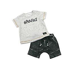 Kidding Around 2-Piece #Perfect Shirt and Short Set in White