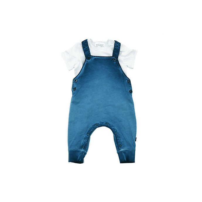 Alternate image 1 for Kidding Around Newborn 2-Piece Coverall Set in Blue