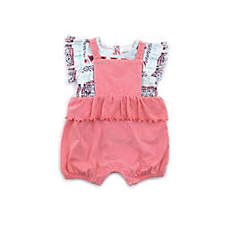 Kidding Around 2-Piece Moroccan Floral Top and Shortall Set