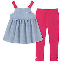 Nautica® 2-Piece Tie-Shoulder Top and Legging Set in Chambray