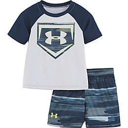 Under Armour® 2-Piece Shirt and Short Set in Grey