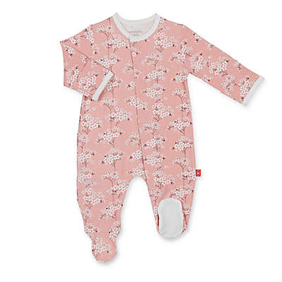 Magnetic Me™ Cherry Blossom Magnetic Modal Footie in Pink