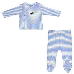 ED Ellen DeGeneres 2-Piece Kimono and Pant Set in Blue