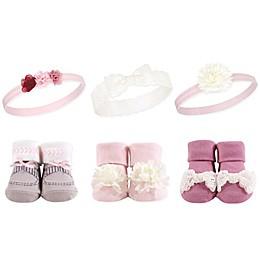 Hudson Baby® Size 0-9M Boho Pink Sock & Headband 6-Piece Gift Set