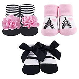 Hudson Baby® Paris 3-Piece Sock Gift Set