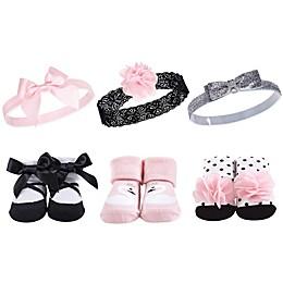 Hudson Baby® Swan Size 0-9M Sock & Headband 6-Piece Gift Set