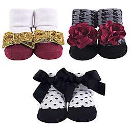 Hudson Baby® Gold Fancy 3-Piece Gift Sock Set