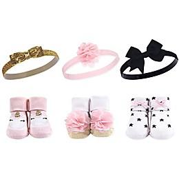 Hudson Baby® Gold Unicorn Sock & Headband 6-Piece Gift Set