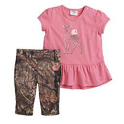 Carhartt® 2-Piece Camo Deer Top and Pant Set in Pink