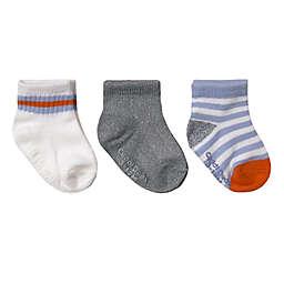 CuddlDuds® 3-Pack Low Cut Stripe/Solid Socks