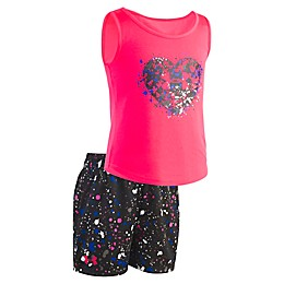 Under Armour® 2-Piece Toddler Heart Shirt and Short Set in Pink
