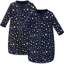 Hudson Baby® 2-Pack Metallic Stars Sleep Sacks in Blue