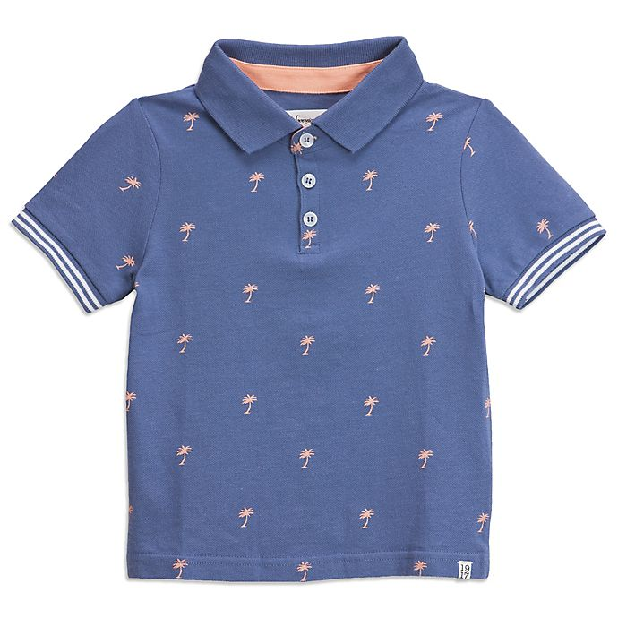 Alternate image 1 for Sovereign Code® Palm Trees Polo Shirt in Blue