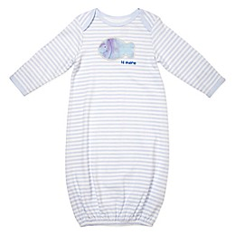 Sterling Baby Striped Fish Gown in Blue