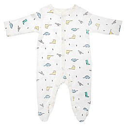 Sterling Baby Dino Footie in Ivory