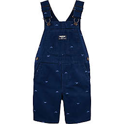 OshKosh B'gosh® Whale Embroidered Shortall in Navy