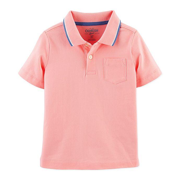 Alternate image 1 for OshKosh B'gosh® Tipped Polo Shirt in Pink