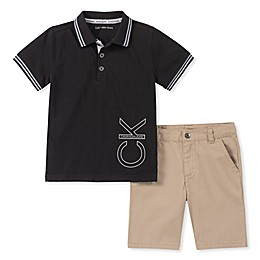 Calvin Klein® 2-Piece Polo Shirt and Shorts Set