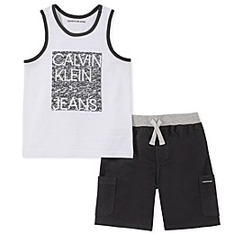 Calvin Klein® 2-Piece Tanktop Shirt and Shorts Set
