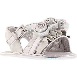 MICHAEL Michael Kors Carina Rosette Sandal in White/Silver