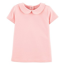 OshKosh B'gosh® Peter Pan Short Sleeve Bodysuit in Pink