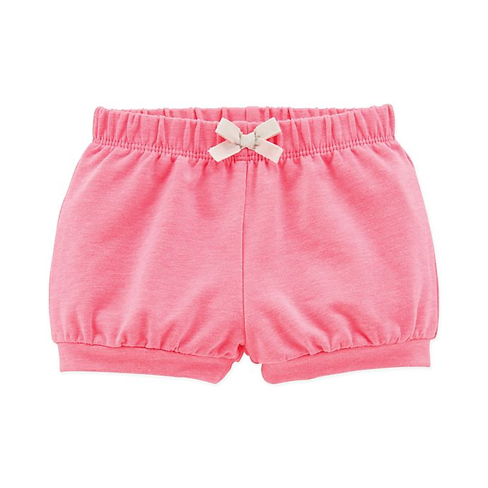 Alternate image 1 for carter's® Bow Front Short in Pink
